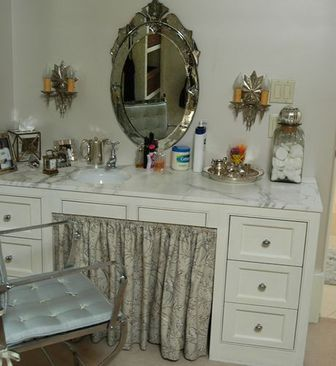 For A Women 39 S Special Birthday The White Vanity Table With The Mirror An